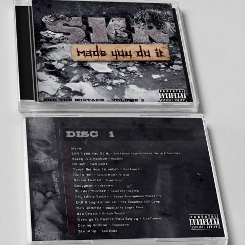 Jaquette, mise en situation, d'un album de musique premier disque créée par le rat et l'ours graphiste